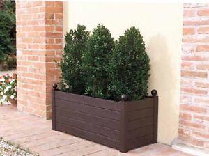 Superb 100ltr Wood Effect Plant Tub Patio Planter Pot Garden Shrub