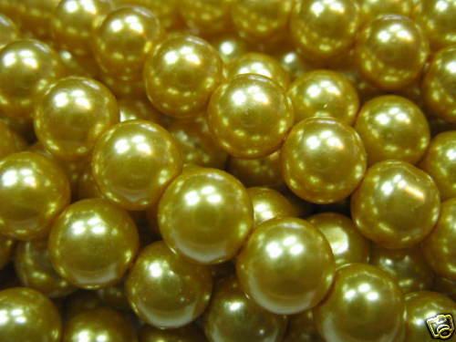 50 despierta de vidrio perlas 6mm senfgelb nuevo perlas 4537