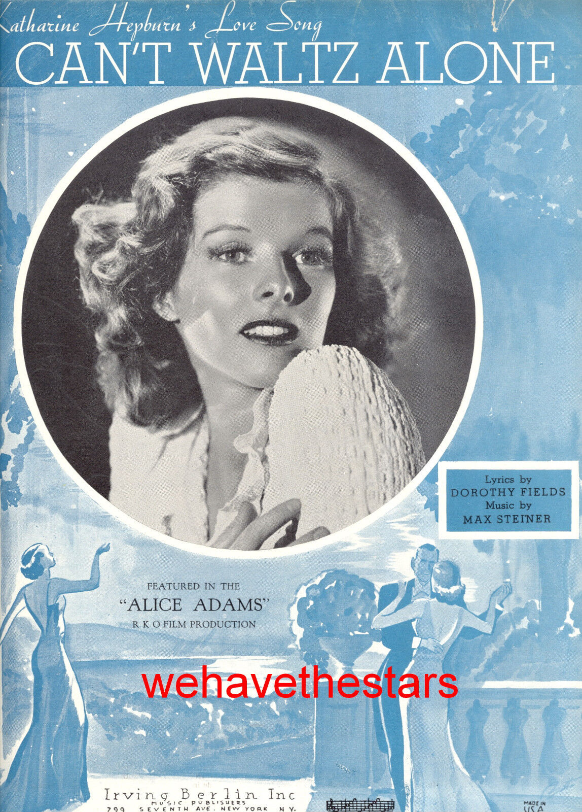 ALICE ADAMS Notenblatt  I Can't Waltz Alone  Katharine Hepburn
