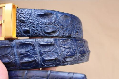 Without Jointed Blue Genuine Alligator Crocodile Leather SKIN MEN/'S Belt