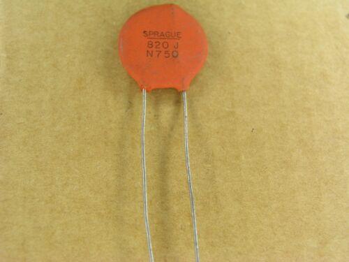 -5/% ceramic disc capacitor P00779 820 pf 1000 volt 1KV 2 Piece Lot