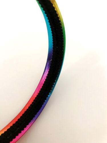 Shiny Rainbow Neon Headband Alice Retro Summer Hair Band Girls xx