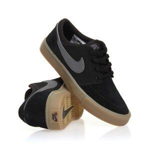 Details about Nike SB Portmore ll Solar Suede Men Black Grey Skate Shoes Brand New Size UK 7.5