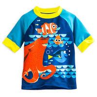 Disney Store Finding Dory Rash Guard Swim Shirt Boy Size 4 5/6