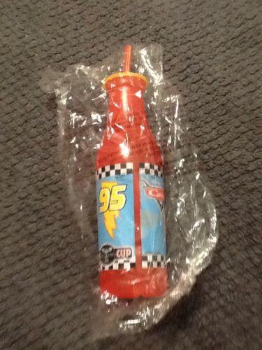 Zak Lightening McQueen Soda Pop Bottle W//Straw Party Favor Supplies Prize Cup