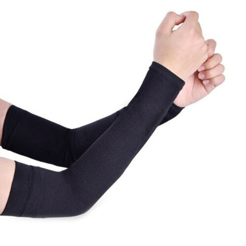 Summer Ice Fabric Arm Sleeves UV Protection Running Cycling Driving 7 Colors
