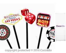 Coco&Bo 10 x Las Vegas Cupcake Picks Casino NIght Poker Party Cake Decorations