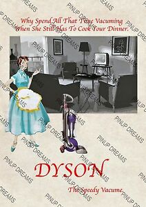 Art re-print Wall Poster Vintage Style Retro Vacuum Cleaner Advert various sizes