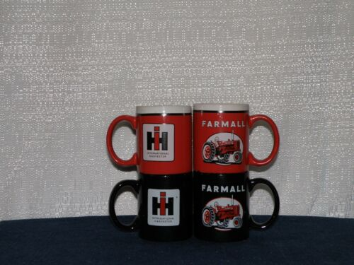 - INTERNATIONAL FARMALL IH TRACTOR COFFEE CUPS NEW BLACK//RED SET OF 4 pc