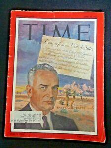 TIME MAGAZINE JUNE 23, 1961 SENATOR BARRY COLDWATER Topkapi Museum Sultan Jewels
