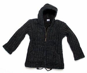 Kleine-Kinderwolljacken-2-Groessen-2-Farben-100-Wolle-Handarbeit-Nepal-Hoodie