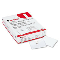 Universal Clear Badge Holders W/garment-safe Clips 3 X 4 White Inserts 50/box on sale