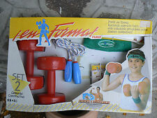 NUOVO Feber En Forma set 2 piccola attrezzatura da palestra per bambini 5+