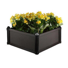 Garden Beds Pots Planter Stackable Plastic Flowers W/ Water Reservoir & Drainage
