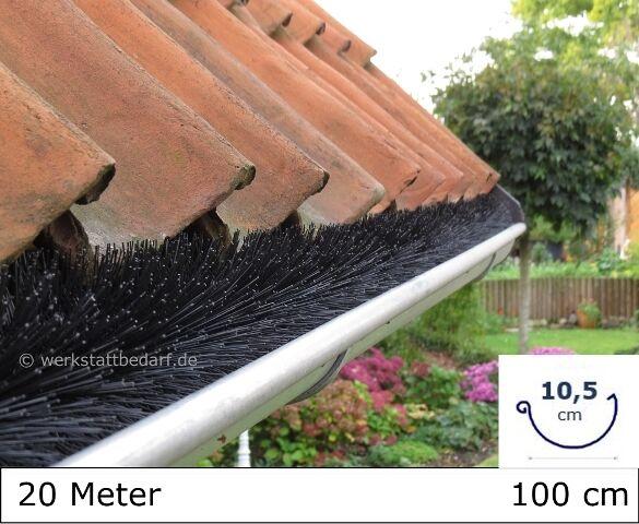20 Meter Dachrinnenbürste Ø10,5cm, á 100cm Laubschutz Photovoltaik Marderschutz