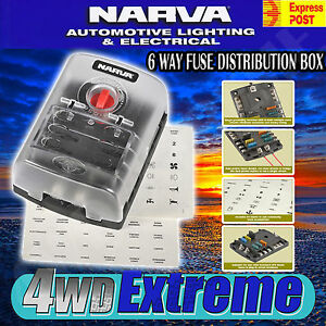 s l300 narva 54446 fuse block holder box caravan marine dual battery volt narva 6 way fuse box at creativeand.co