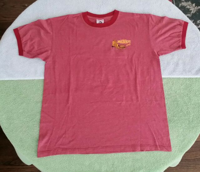 2005 Jazz Fest West Old Pasadena CA Size  L    T-Shirt  RED James Ingram Concert