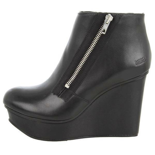 350 Diesel  Blairey  Women's Ankle Boots, Platforms Booties, Black 9US 40EU 7UK