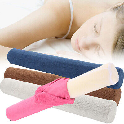 """23/"""" Round Cervical Pillow Roll Memory Foam Bolster Neck Lumbar Washable"""