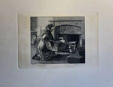 ERLING ECKERSBERG (1808-1889) FRAU AM KAMIN MIT BLASEBALG