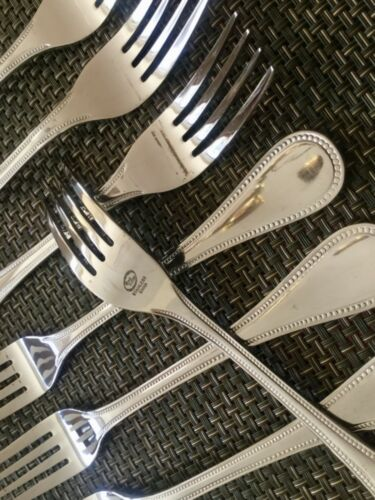 8 NEW $64 The Cellar CLF4 Macy's Exclusive STAINLESS Dinner Forks SET of EIGHT