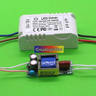 6-10x3 W Watt High Power LED Light lamp Driver Power Supply 85-265V 600mA