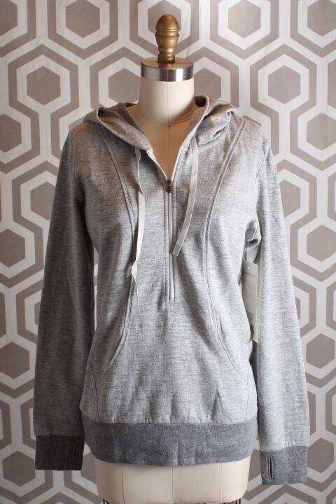 NWT Lucy Sexy Sweat Half Zip Sweatshirt XS  79 Dove Grey Heather