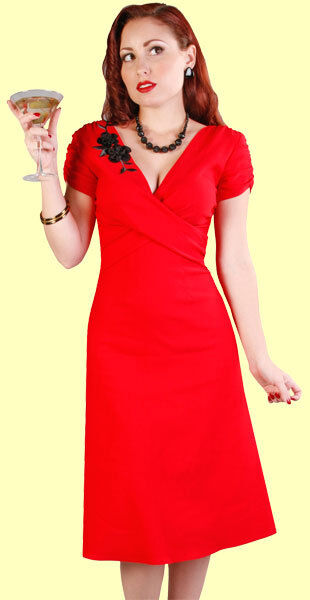 Stop Staring  Sexy Sexy Sexy Red 1940's Style Lana Dress.  New With Various Sizes 71a9ce