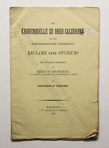 Prospekt-Valentiner-Kronenquelle-zu-Ober-Salzbrunn-1884-Schlesien-Polen-xz