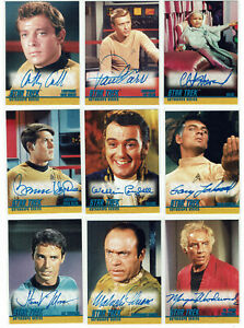 Star-Trek-The-Original-Series-TOS-Season-1-A1-A26-Autograph-Card-Selection