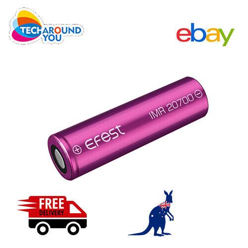 2x Efes IMR 20700 3000mAh 30A Lithium Li-Ion rechargeable High Drain batteries
