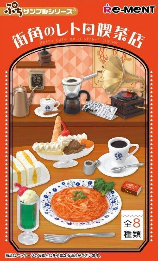 Miniature RE-MENT Petit Retro cafe a street corner Box Candy Toy JAPAN F/S S0550
