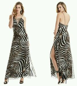 32c9fd38b73e Image is loading GUESS-BY-MARCIANO-MULHOLLAND-ANIMAL-PRINT-MAXI-GOWN-