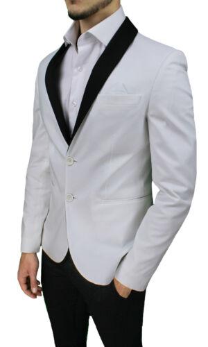 Bianco In Uomo Cotone Elegante Made 100 Blazer Diamond Italy Cerimonia Giacca fXS1qEE