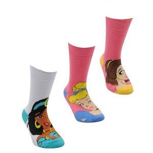 Disney-3-pack-crew-chaussettes-filles-junior-femmes-uk-1-6-D333-34