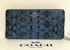 COACH COLORBLOCK EXOTIC EMBOSSED LEATHER SKINNY WALLET WOMAN'S 53684