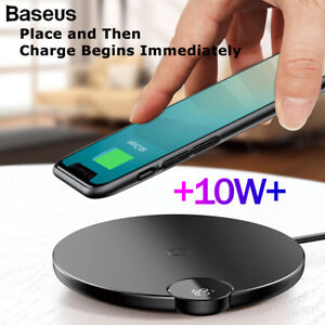 For iPhone XS Max 8+ Samsung S9 QI Wireless Charger FAST