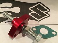 03-15 Suzuki Ltz 400 - Billet Manual Cam Chain Tensioner Z400 - Usa- Red Cnc-13