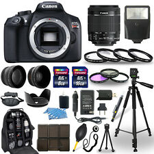 Canon EOS Rebel T6 SLR Camera + 18-55mm IS Lens + 30 Piece Accessory Bundle