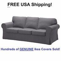 Ikea Ektorp Three (3) Seat Sofa Slipcover Cover Nordvalla Dark Gray Sealed