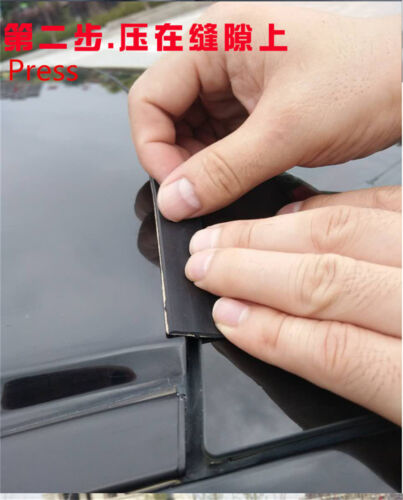 Black Rubber Seal Weather Strip For Car Front Rear Windshield Sunroof 9.84ft