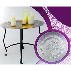 Beistelltisch Orient 50x40cm Tisch Teller mit Ornamenten Teetisch Tee Tablett