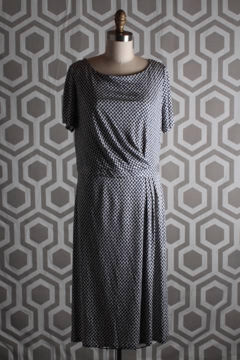 NWT Tory Burch Edna Dot Shadow Shadow Shadow Dress Large L Silk Knit Dress  395 Lavender Mist acd5bc