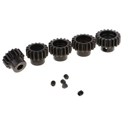 Brush Brushless Motor Gear 15T 16T 17T 18T 19T Pinion M1 5mm for 1//8 RC Car