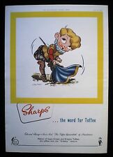 SHARPS TOFFEE SWEET CONFECTIONERY 1pp MAGAZINE ADVERT 1953