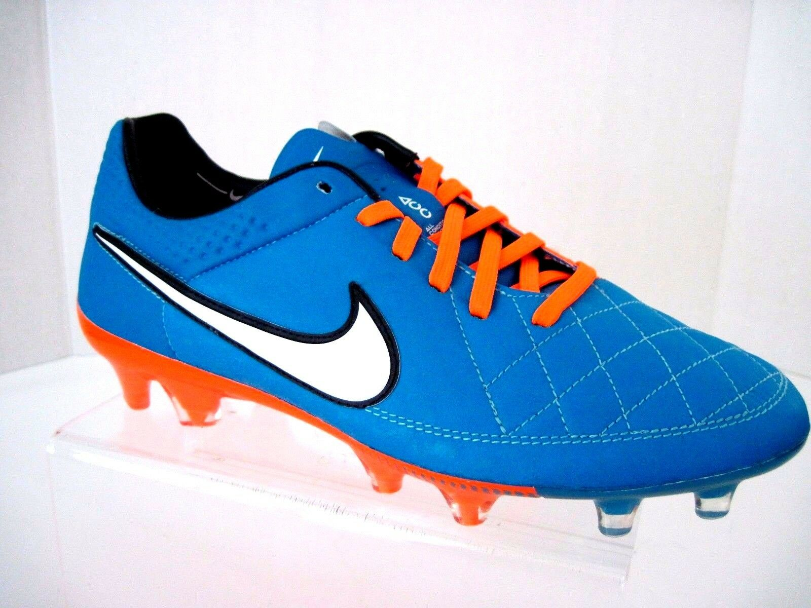 NIKE Tiempo Legend V FG Neon Turquoise Soccer Cleats 631518-419