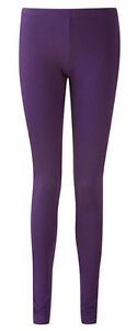 LADIES-ANKLE-LENGTH-STRETCH-FIT-COTTON-LEGGING-IN-PURPLE-COLOURS-Sizes-8-20