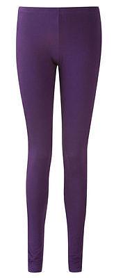 Stivaletti Lunghezza Aderente Cotone Legging In Colori Viola Taglie (8-20)-