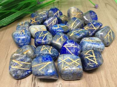 Shungite Reiki Healing Tumbled Rune Set With Carry Pouch set of 25pcs Free Ship