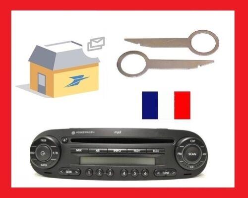 Extraktion Schlüssel Autoradio CD Autoradio Casette und CD Abbau VW New Beetle